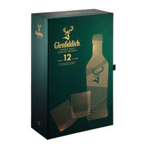 Whisky Single Malt Glenfiddich 12 ani + 2 pahare